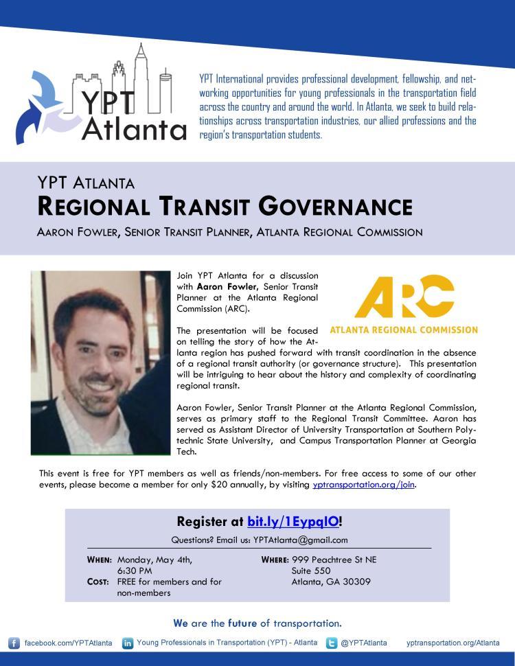 YPT Atlanta Regional Transit Governance
