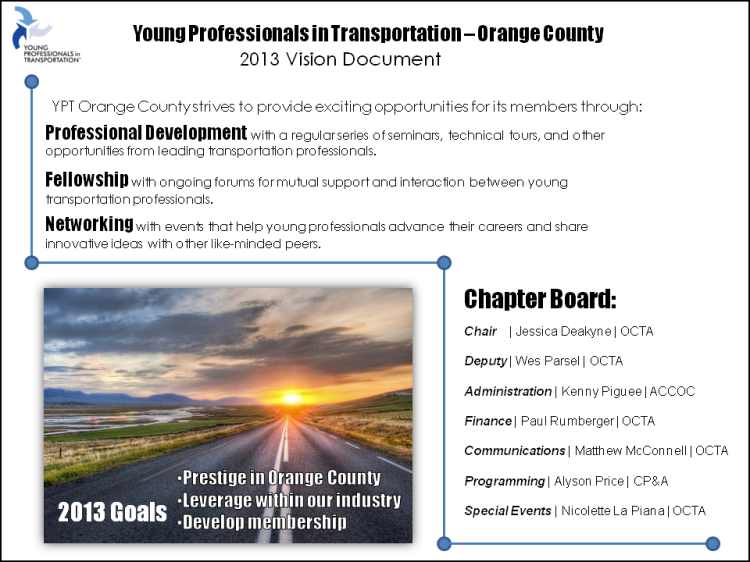 YPT Anaheim/OC 2013 Vision Document