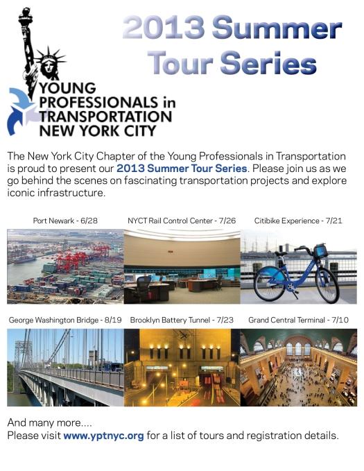 2013 Summer Tour Series Flyer