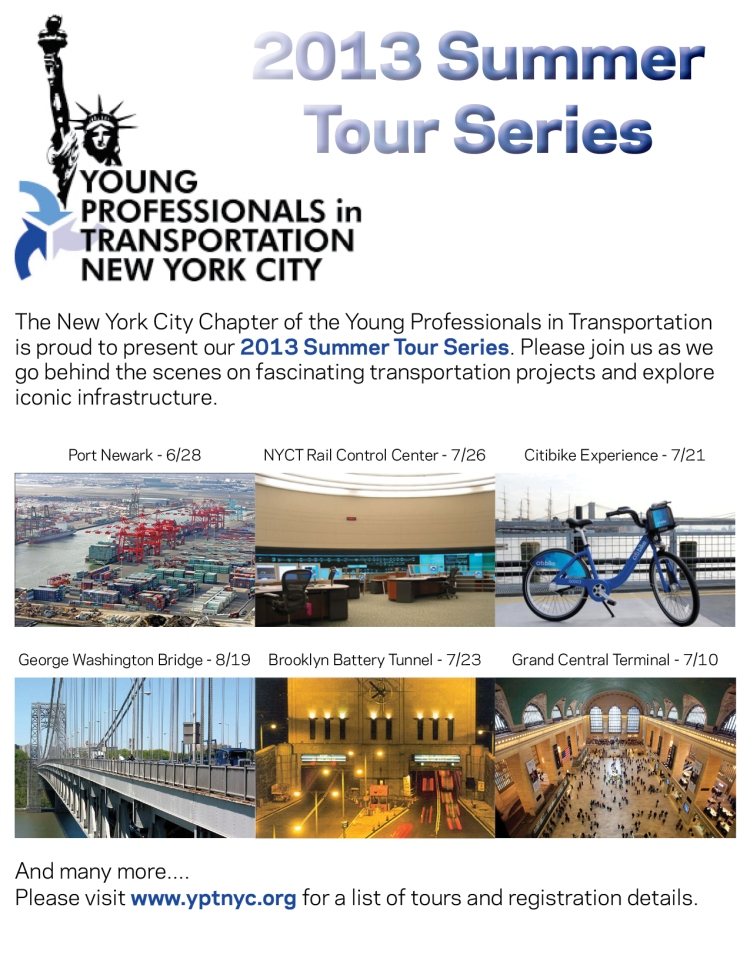 2013 Summer Tour Series Flyer