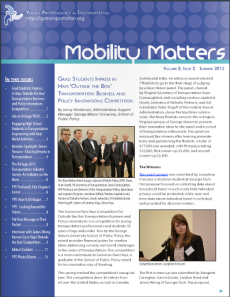 Click to read the latest issue of Mobility Matters
