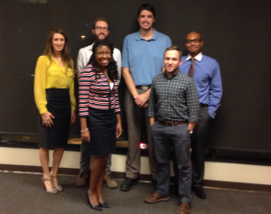 YPT Nashville Board of Directors (from left to right, front to back) Denise Baker, Vice Chair for Admin; Reese DeBlois, Vice Chair for Membership; Whitney Sullivan, Vice Chair for Communications; Justin Cole, Vice Chair for Finance; David Morse, Chair; and David Holloway, Deputy Chair